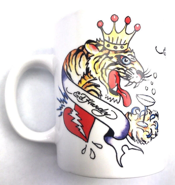 Ed Hardy Mug Love Kills Slowly Tattoo Heart Rose Skull Tiger Mug 11 oz mugs mug
