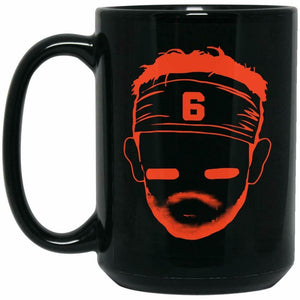 BARSTOOL BAKER MAYFIELD DANGEROUs. Black Mug 11 oz mugs mug