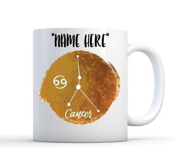 Personalized Mug, Cancer Birthday Gift, Cancer Zodiac Sign, Cancer Coffee Mug, Cancer Zodiac Mug, Cancer Astrology Gift, Cancer Horoscope