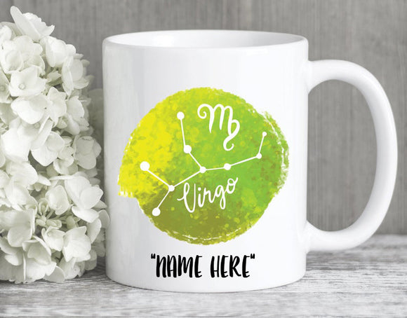 Personalized Mug, Virgo Birthday Gift, Virgo Zodiac Sign, Virgo Zodiac Mug, Virgo Gift, Virgo Astrology Gift, Virgo Horoscope, Virgo Sign