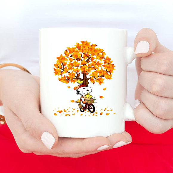 Gift For Halloween Mug, Gift For Friends Mug, Snoopy Tree Mug