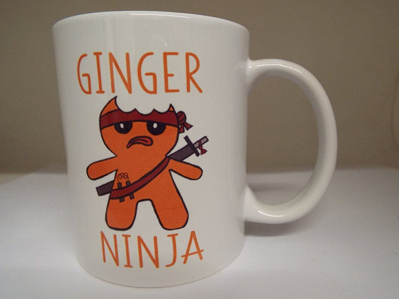 Ginger Ninja Ceramic mug Gift birthday christmas