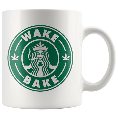 Wakes Bakes Coffee Mugs Stoner Cup Stoners Cups Pot