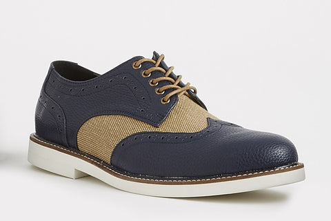 Vincent - Navy/Brown