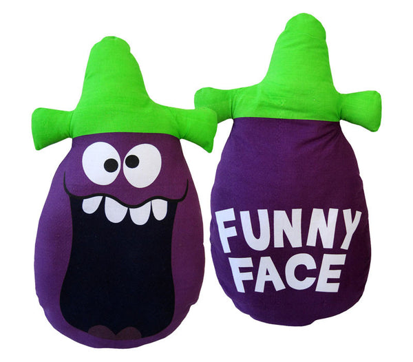 Goofy Grape Funny Face Pillow Doll | Flapjack Toys
