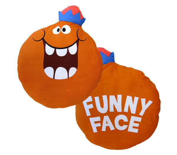 Jolly Olly Orange Funny Face Pillow Doll
