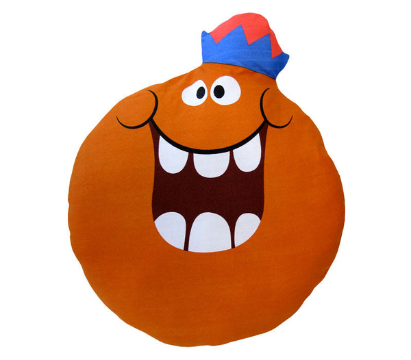 Jolly Olly Orange Funny Face Pillow Doll | Flapjack Toys