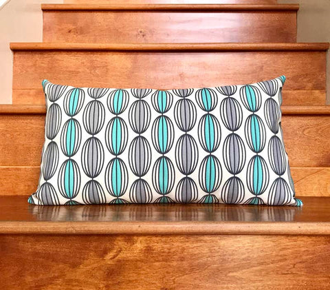 Flapjack Home Nelly Lumbar Throw Pillow - Jade