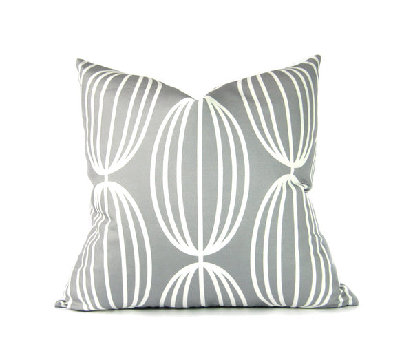 Flapjack Home Nelly Square Throw Pillow - Gray