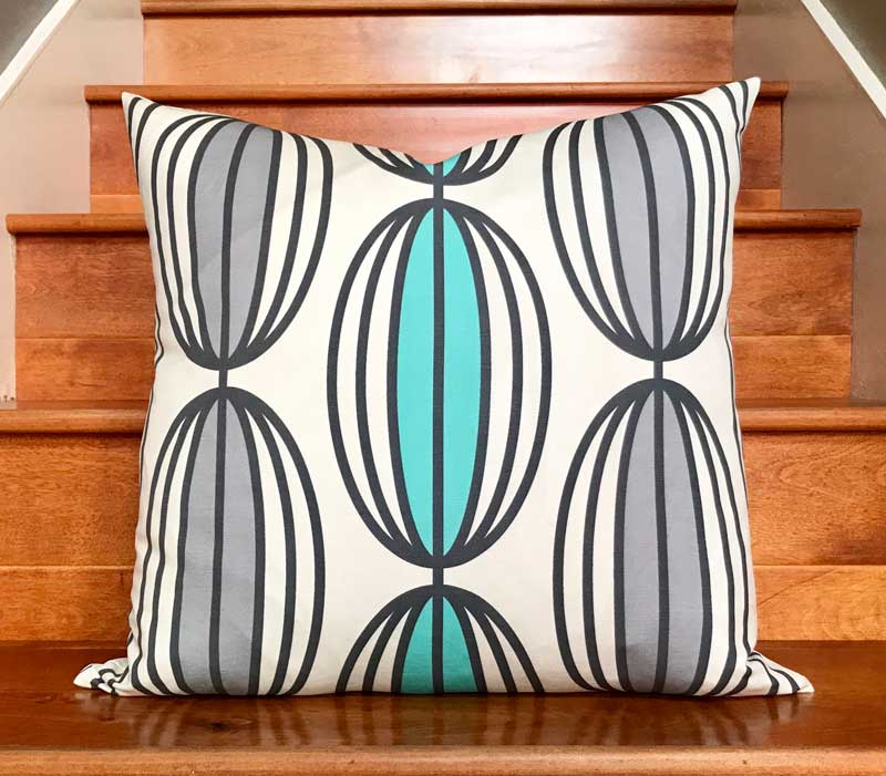 Flapjack Home Nelly Square Throw Pillow - Jade