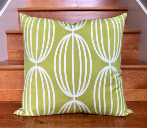 "Nelly 20"" Linen Square Throw Pillow - Lime"