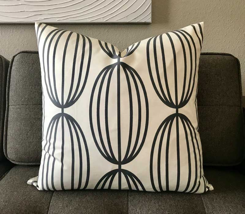 Flapjack Home Nelly Square Throw Pillow - Natural