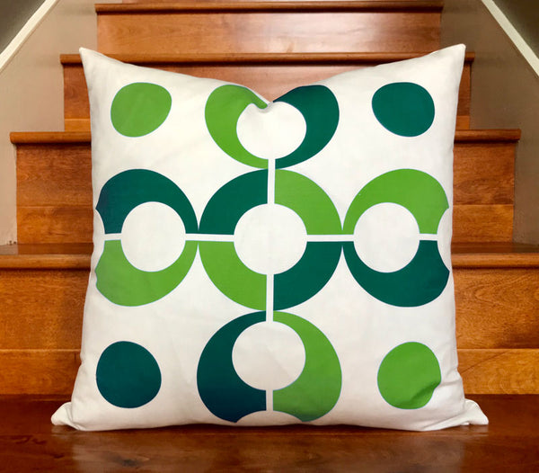 Flapjack Home Pop Dots Square Throw Pillow - Green