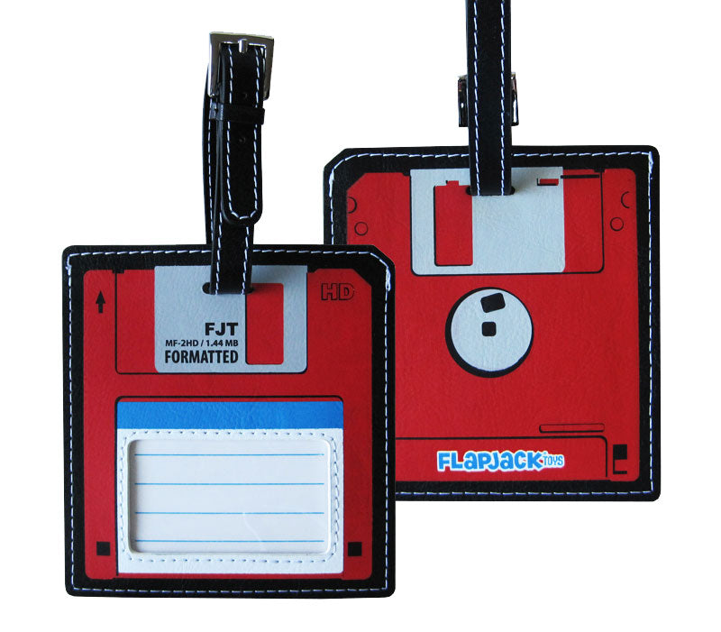 Red Floppy Disk Luggage Tag