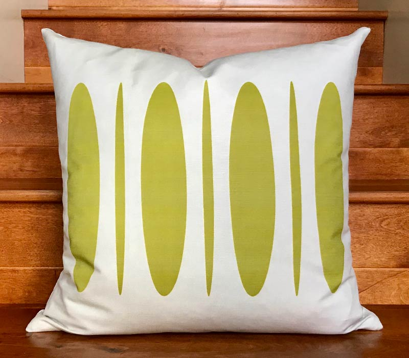 "Sergio 20"" Linen Square Throw Pillow - Green Moss"