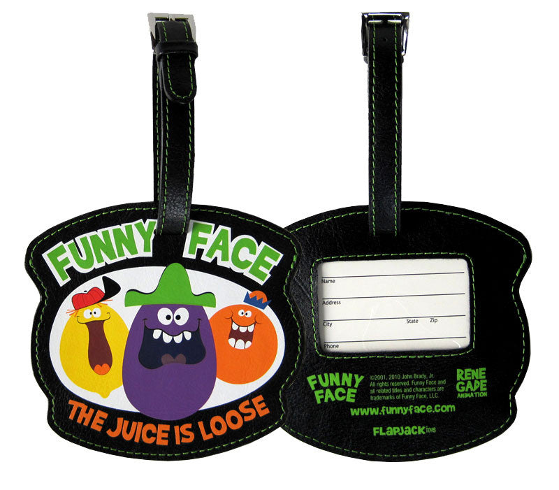 Funny Face Luggage Tag