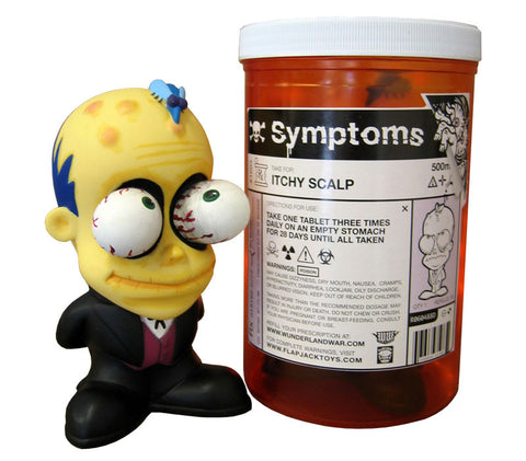 Itchy Scalp Symptom Vinyl Figure