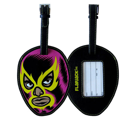 Pink Lucha Libre Luggage Tag
