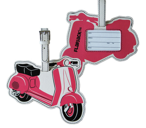 Pink Scooter Luggage Tag