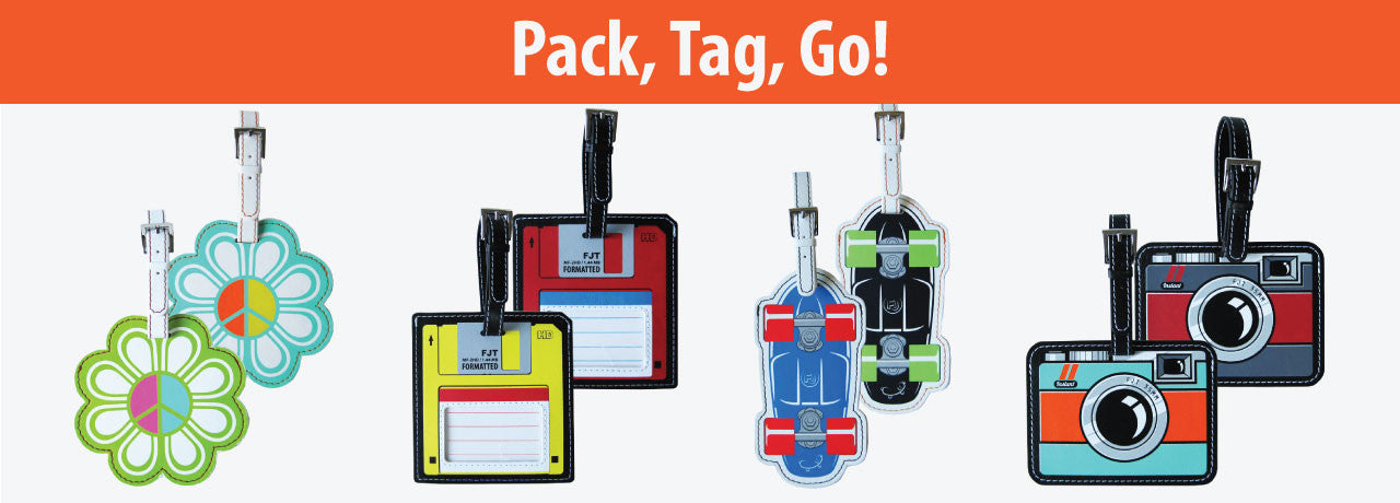 Retro Luggage Tags