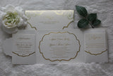 AMBER Gatefold Invitation with Pockets
