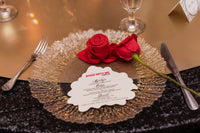 """ROSE"" Diecut Menu Card"