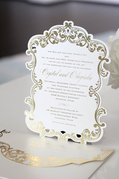 CRYSTAL Lasercut Invitation