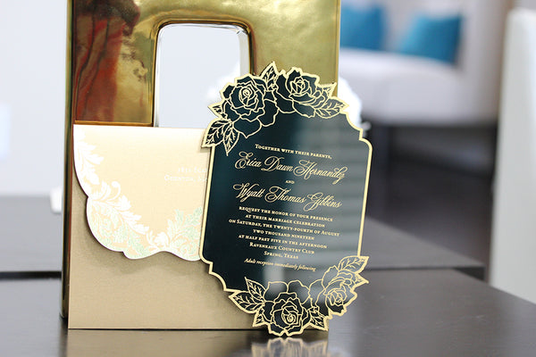 ERICA & WYATT Acrylic Invitation