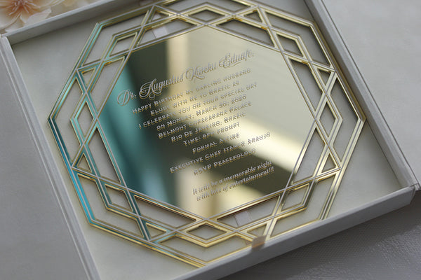 JENNIFER Lasercut Acrylic Invitation
