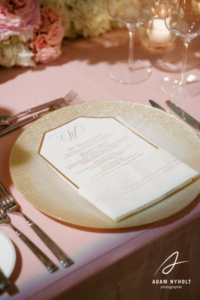 """LACEY"" Die-cut Menu Card"