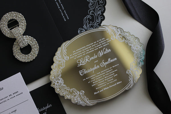 LARONDA Mirror Acrylic Invitation