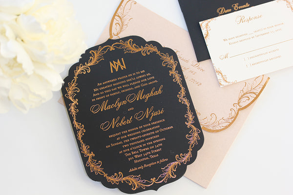 """MAOLYN"" Die-cut Invitation (Foil print)"