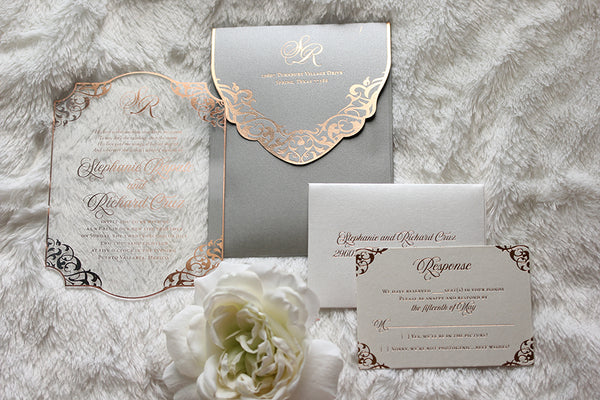 STEPHANIE Clear Acrylic Invitation