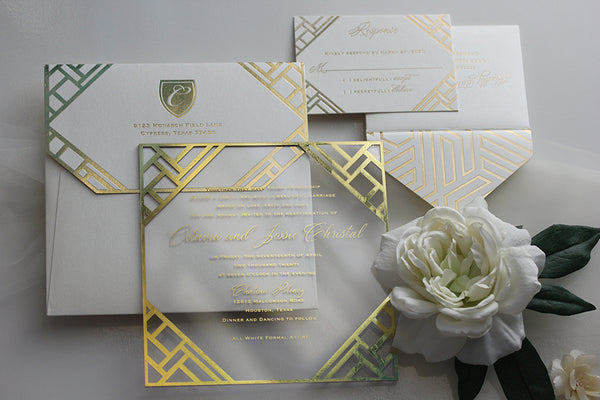 TAVIA Clear Acrylic Invitation