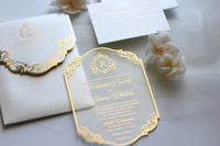 TJ Clear Acrylic Invitation