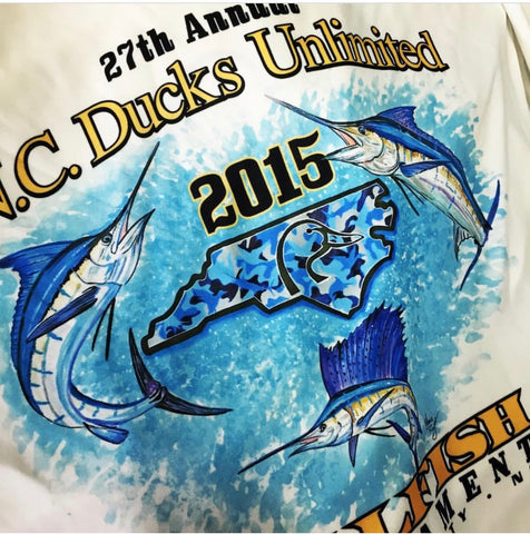 Ducks Unlimited Band The Billfish Custom Performance Shirts