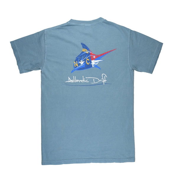 North Carolina Pocket Tee - S/S - Ice Blue - Atlantic Drift