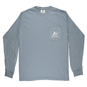 North Carolina Pocket Tee - L/S - Granite - Atlantic Drift