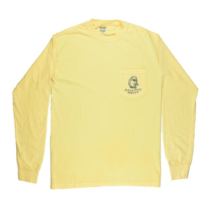 Oyster Roast Tuxedo Pocket Tee - L/S - Pineapple - Atlantic Drift