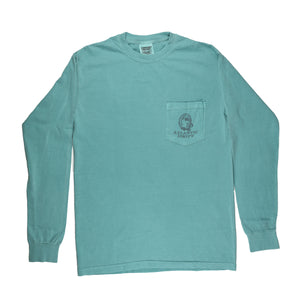 Oyster Roast Tuxedo Pocket Tee - L/S - Seafoam - Atlantic Drift