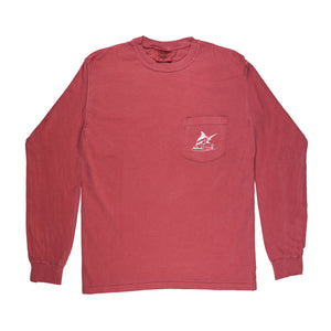 Atlantic Flyway Tee - L/S - Crimson - Atlantic Drift