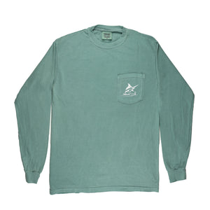 Atlantic Flyway Tee - L/S - Light Green - Atlantic Drift