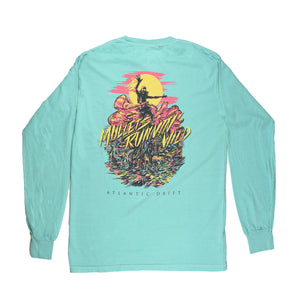 Mullets Running Wild Tee - L/S - Mint - Atlantic Drift