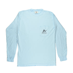 Mullets Running Wild Tee - L/S - Chambray - Atlantic Drift