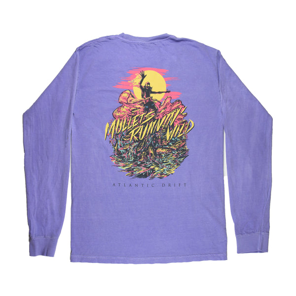 Mullets Running Wild Tee - L/S - Violet - Atlantic Drift
