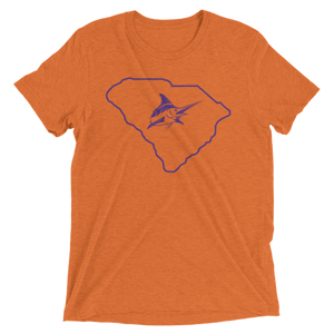 Clemson Vintage Tee - Athletic Fit - Atlantic Drift