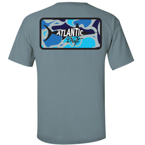Aqua Camo Pocket Tee - Atlantic Drift