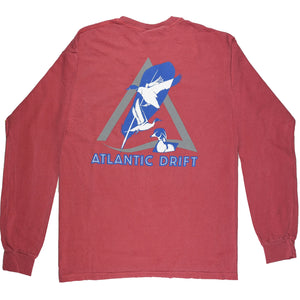 Atlantic Flyway Tee - L/S - Crimson