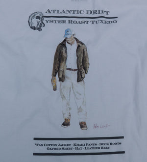 Oyster Roast Tuxedo Pocket Tee - White - Atlantic Drift