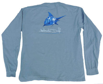 South Carolina Pocket Tee - L/S - Granite - Atlantic Drift